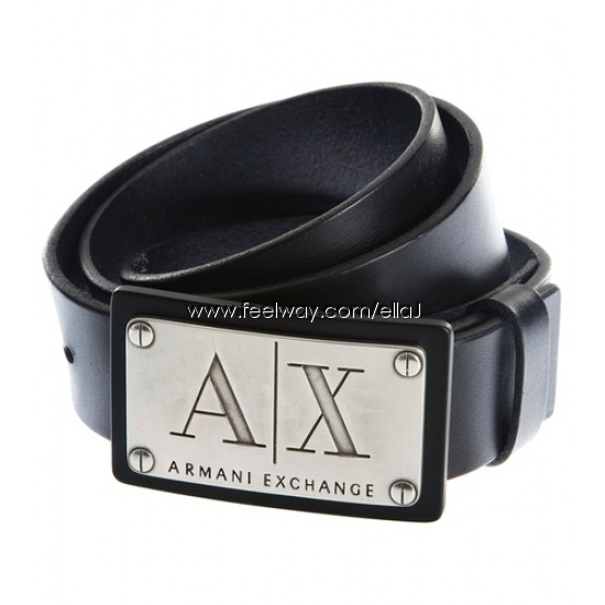 armani exchange bolted logo belt armani
